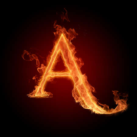 Fiery font photo