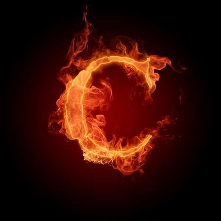 fiery font: Fiery font