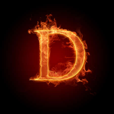 flame alphabet: Fiery font