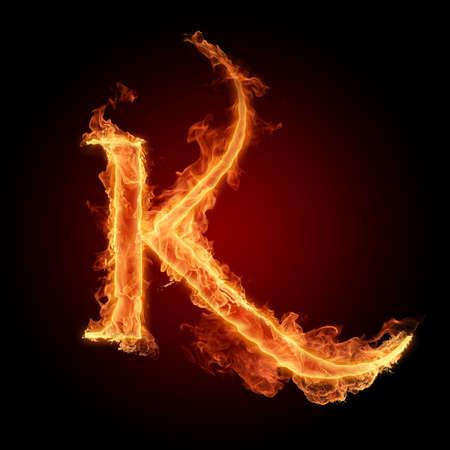 flame letters: Fiery font