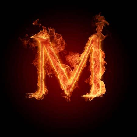 decorative letter: Fiery font