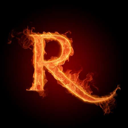 blazing: Fiery font