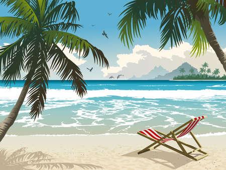 strandstoel: Tropisch paradijs