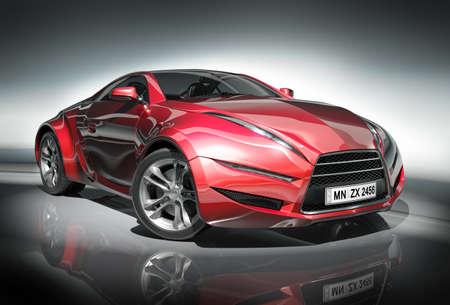 car concept: Sports car. Original car design. Stock Photo