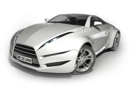 White sports car. Original car design. Stock Photo - 7599540