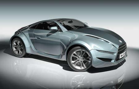 Sports car. Original car design. Stock Photo
