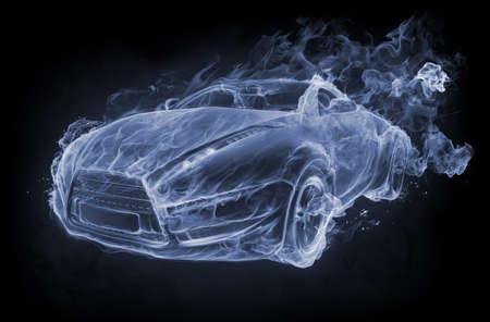 Car-smoke on a black background Stock Photo - 7599616