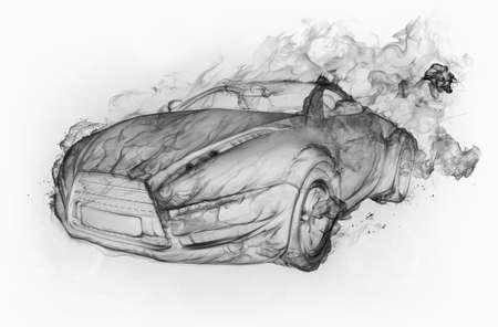 Smoke-car Stock Photo - 7599599
