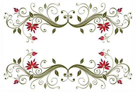 Decorative floral frame Stock Photo - 7599597