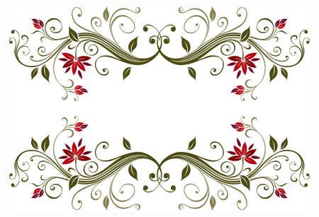 Decorative floral frame Stock Photo - 7599597