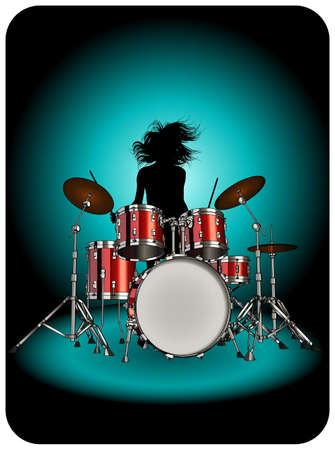 drum set: Drummer