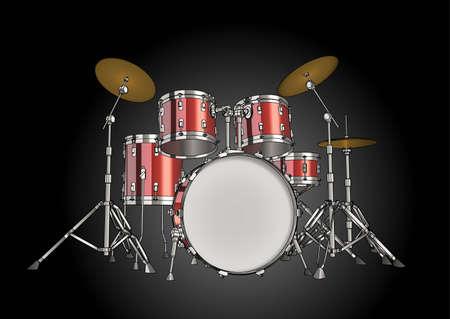 Vector drum kit photo