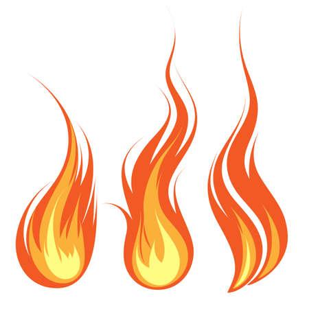 flames vector: Vector flames Stock Photo