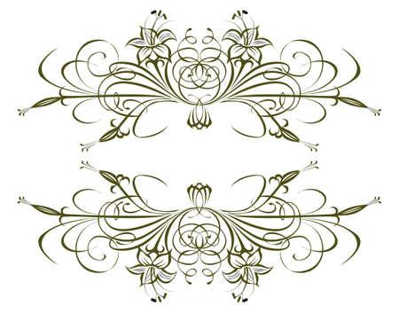 Decorative floral element Stock Photo - 7599555