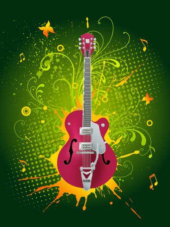 Vector guitar photo