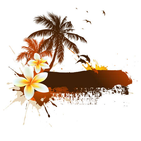 Summer tropical background Stock Photo - 7599566