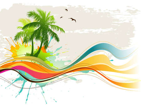 scroll background: Summer tropical background