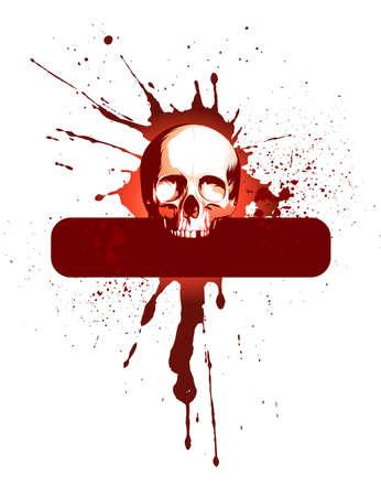 splattered: Skull and frame