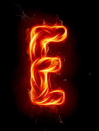 ardent: Fire letter Stock Photo