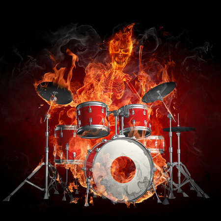 Fire drummer photo