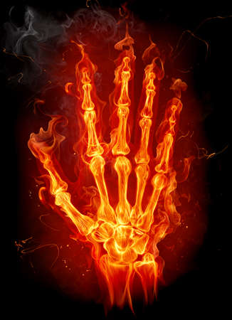 Fire hand Stock Photo - 7622421