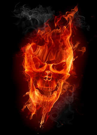 creepy: Fire skull