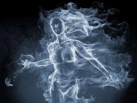 ghost woman: Smoke