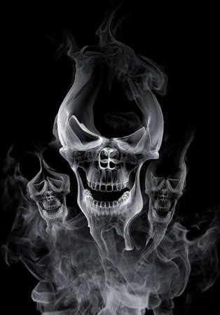 Skull - smoke photo