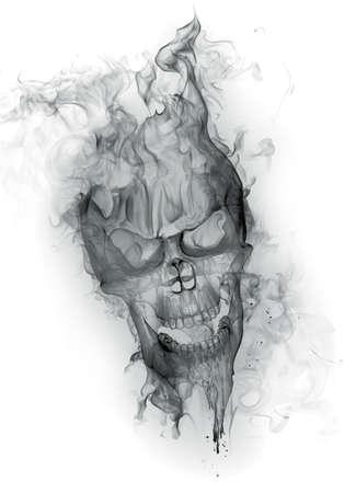 Smoke - skull Stock Photo - 7622413