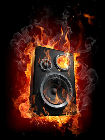 burn: Burning speaker