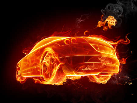 fire car: Hot car Stock Photo