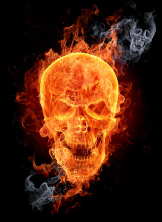 Fire skull Stock Photo - 7599725