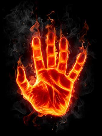 burning: Fire hand