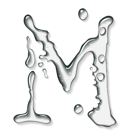 water liquid letter: Water letter Stock Photo