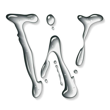Water letter Stock Photo