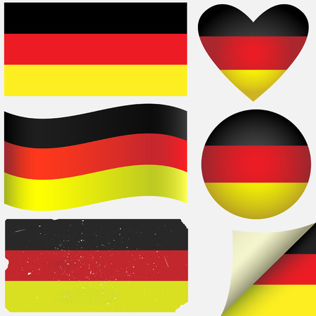 Germany icon set of flags. Fully editable Stock Vector - 25634483
