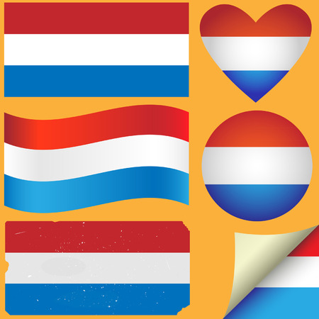Netherlands icon set of flags. Fully editable  Stock Vector - 25634485