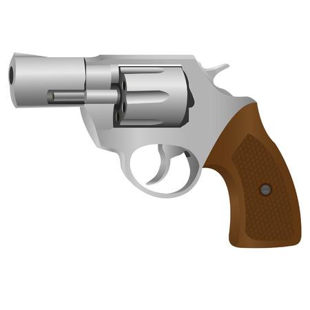 Realistic Revolver. illustration on white  Иллюстрация
