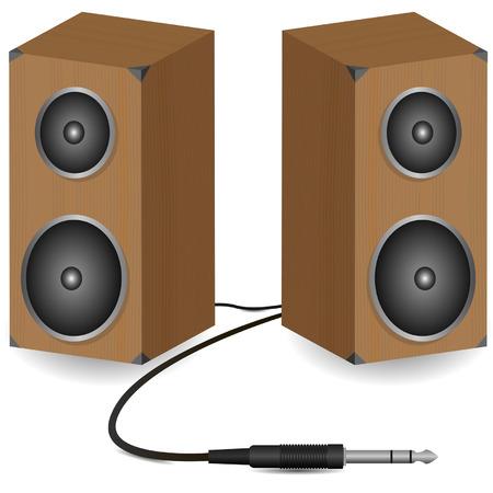 ballad: Stereo speakers on white illustration