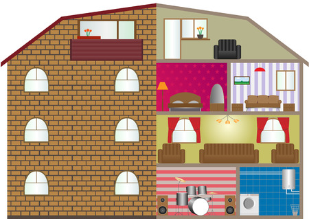 Vector illustration of a house interior. EPS-10. Vector