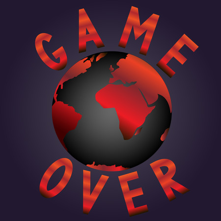 the end of the world: El fin del mundo. GAME OVER. Vectores