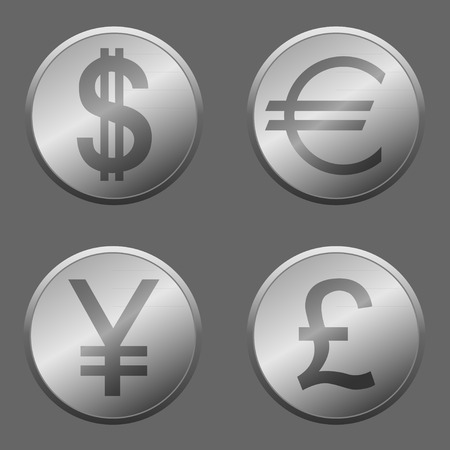 Money icon set for design.  Vector