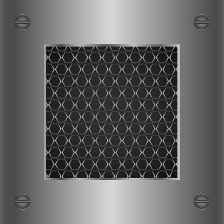 Abstract silver metallic background. Vector illustration. Vector