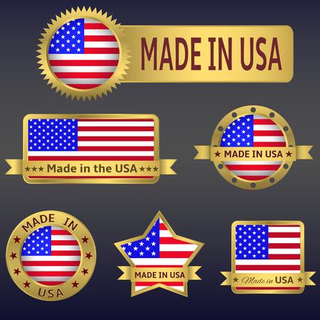 bandera blanca: Hecho en USA
