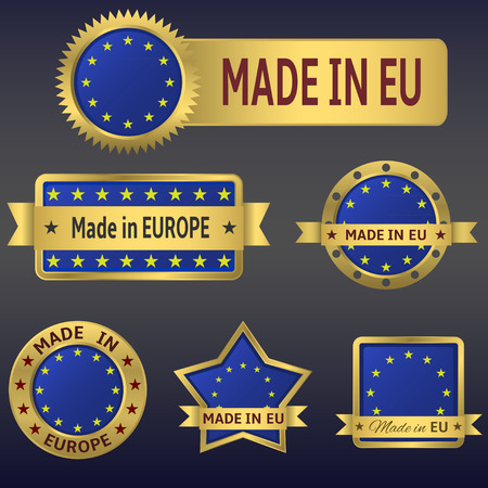made in greece stamp: made in europe Illustration