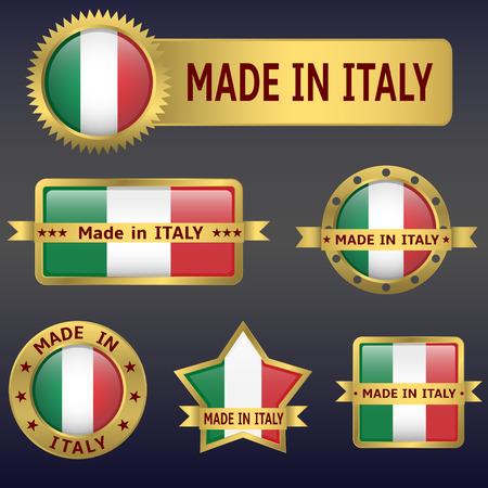 bandera italiana: made in Italy