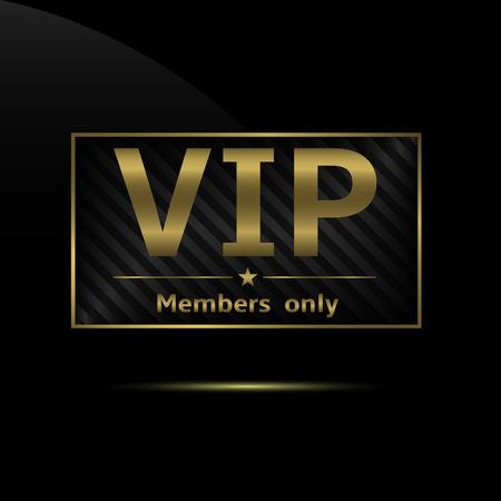 VIP-pictogram Stock Illustratie