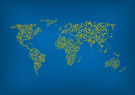 mapa mundi: Ilustraci�n del vector del Mapa del mundo abstracto.