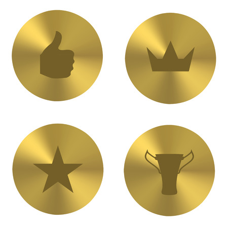 Golden insania icons Vector
