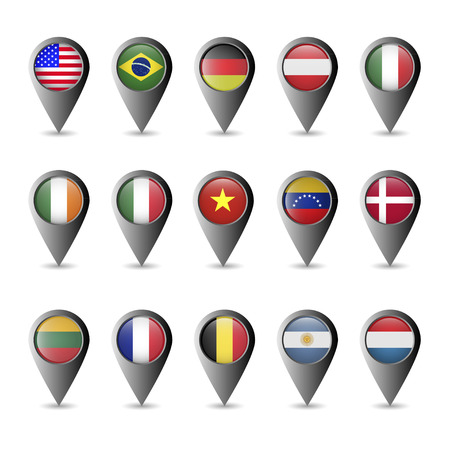 Flag markers Vector